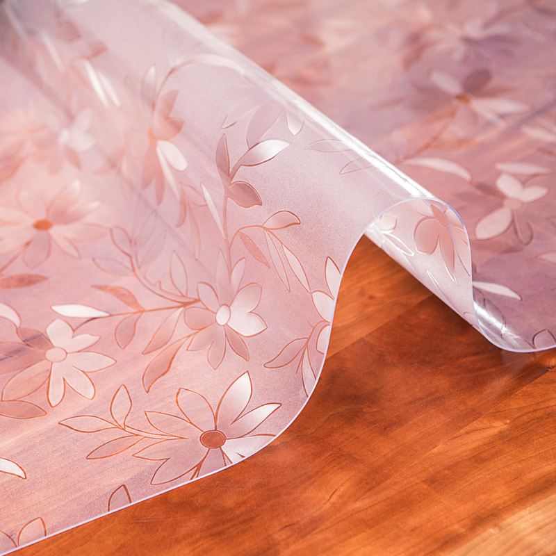 North European tea table table mat plastic PVC crystal plate soft glass tablecloth waterproof, oil-proof, wash free, hot and tasteless