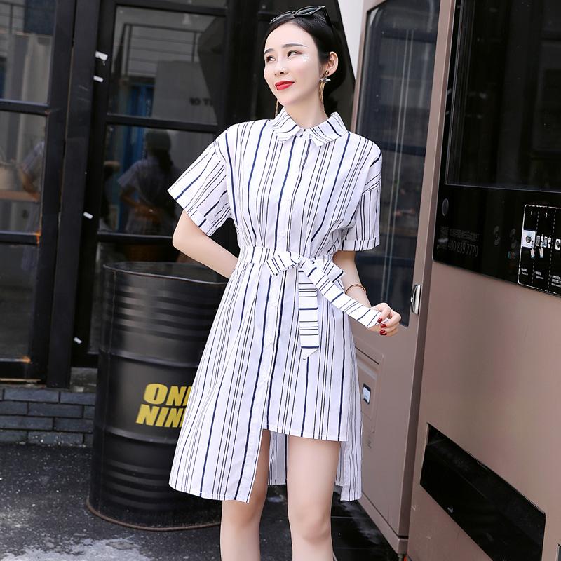 青木三色女装旗舰店木兰正品言语天堂3s2018夏新款短袖连衣裙