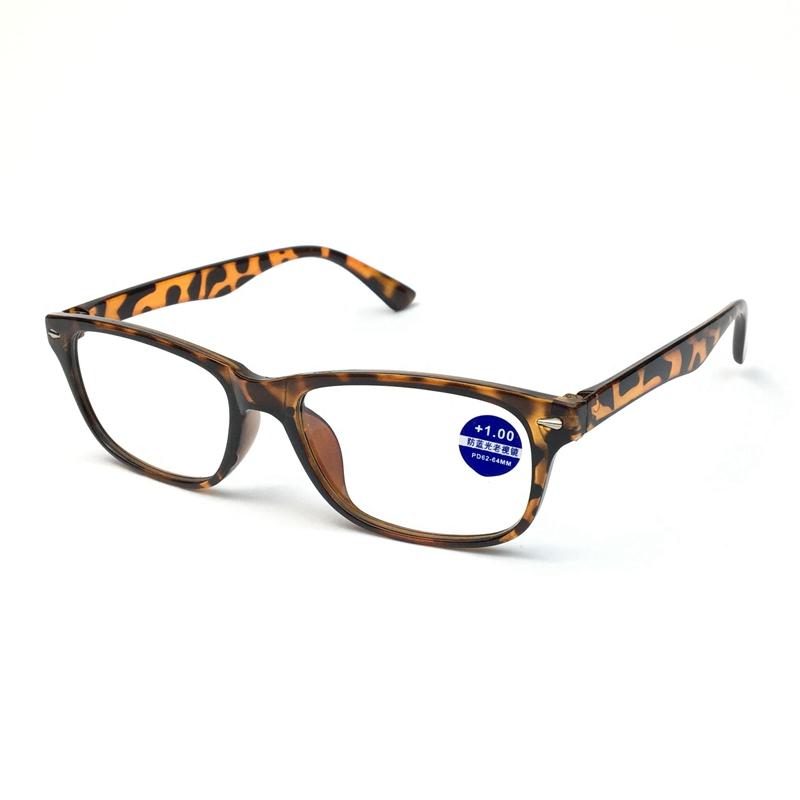 ブルーレイ防止老眼鏡の正方形の大きな枠5010男女通用のハイビジョン閲読眼鏡快適老人鏡+100