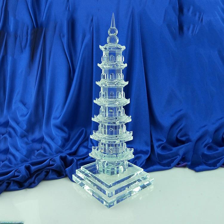 Белого хрусталя 7 слой wenchang башня помогите вещь промышленность процветающий школа промышленность книга дом декоративный стол открытие фэн-шуй украшение побуждать культура дорогой