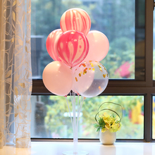 Table float balloon decoration birthday opening scene decoration party bracket transparent base wedding room wedding wedding