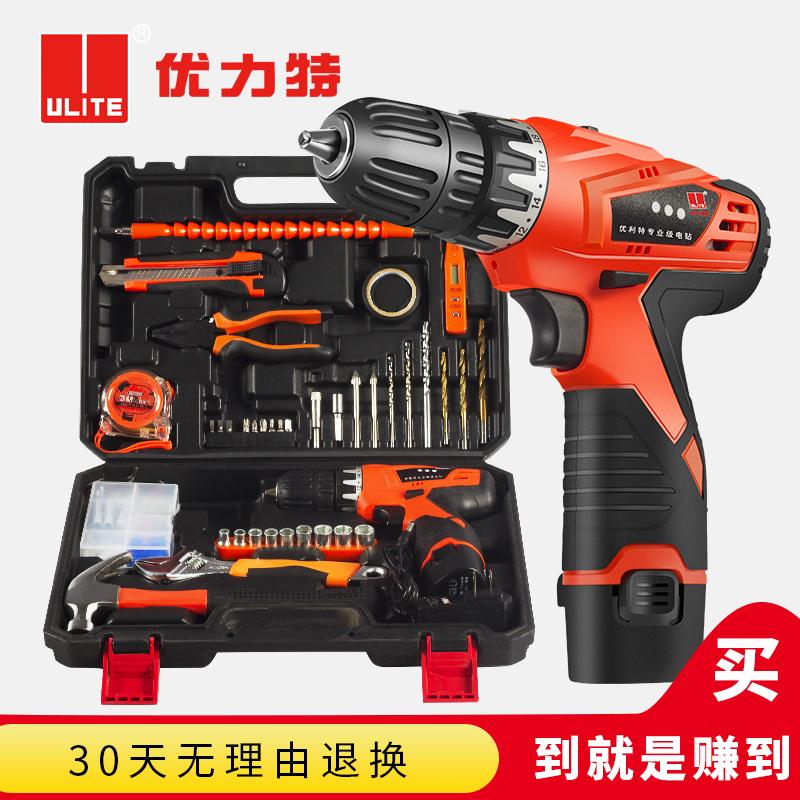 优力特家用电钻电动手工具套装五金电工维修多功能工具箱组套木工