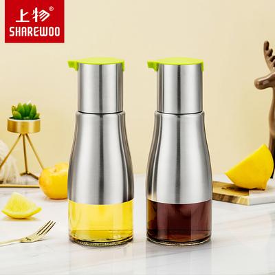 油壶玻璃防漏油瓶油罐醋瓶酱油调味调料壶不锈钢家用厨房餐厅定制