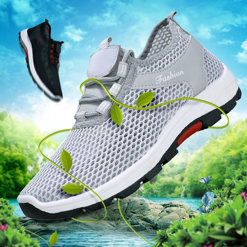 2020新款夏季男鞋运动休闲跑步鞋板鞋网面透气网鞋男士一脚蹬布鞋