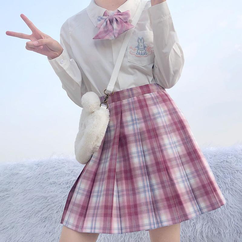 【甜心泡泡】开学季直降35R jk格裙制服裙女学生正版原创短裙现货