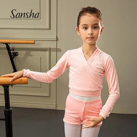 Sansha 三沙兒童舞蹈練功服保暖預熱防寒芭蕾舞蹈體操外套上衣圖片