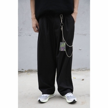 新款 EVILKNIGHT 18ss 休闲裤 链黑色灰色西裤 原创潮宽松复古裤
