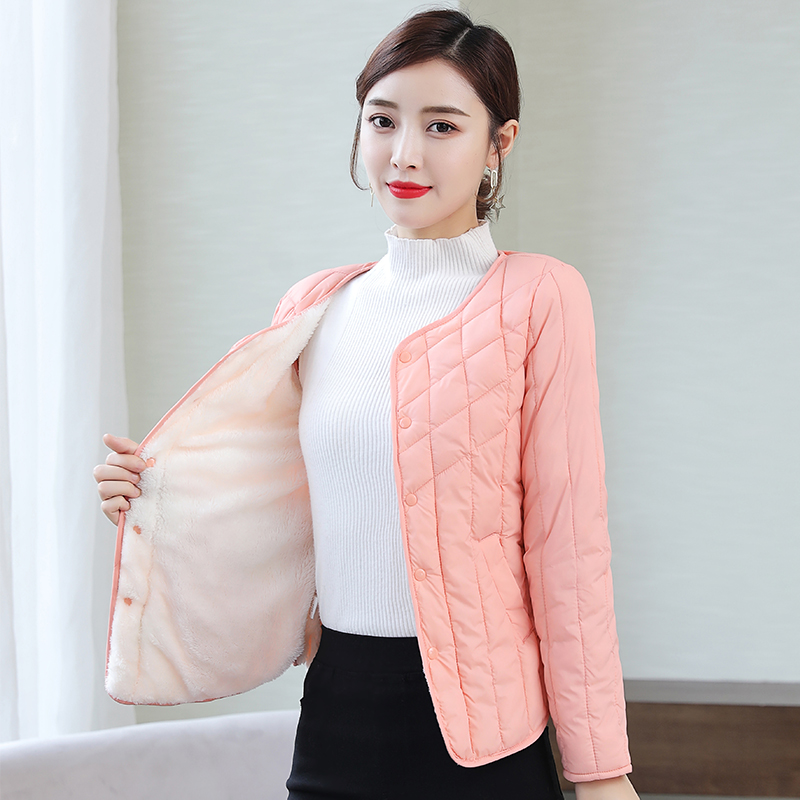 Womens cotton padded jacket with short down jacket and small cotton padded jacket