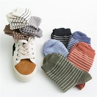 条纹袜子女中筒袜ins潮流夏季薄款韩国日系堆堆袜纯棉韩版中长袜