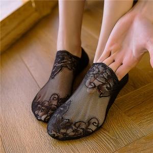 袜子女短袜浅口蕾丝船袜女防滑硅胶纯棉薄款夏季花边隐形袜女袜套