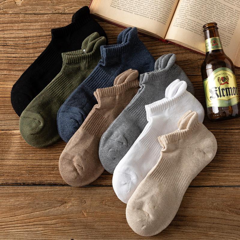 吸汗防臭低帮男士运动全棉毛巾袜子