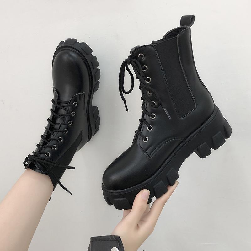 马丁靴女夏季薄款2020新款内增高网面女靴英伦风网红瘦瘦厚底短靴