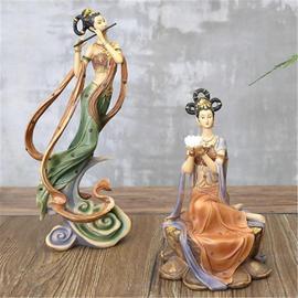 中式仕女摆件敦煌飞天工艺品家居玄关客厅书房办公室创意礼品