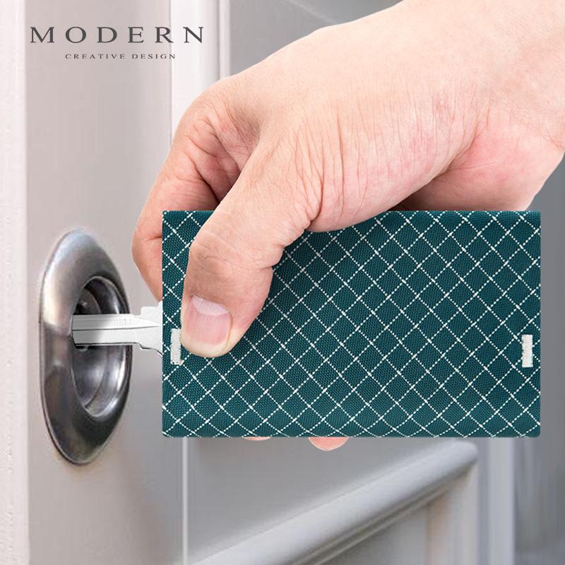 11月05日最新优惠德国MODERN钥匙收纳包防盗刷零钱卡包男女三合一体抽拉式钥匙包潮