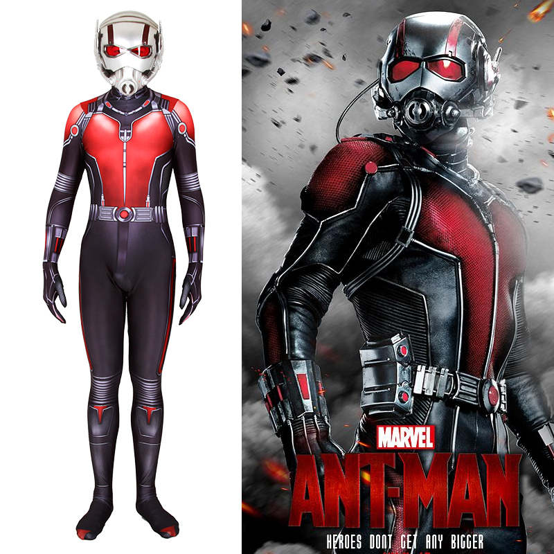 Marvel superhero ant ant Cosplay children adult bodysuit role play suit can be customized