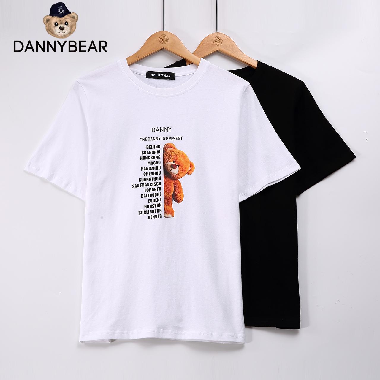 #l dannybear新品男女式压花t恤