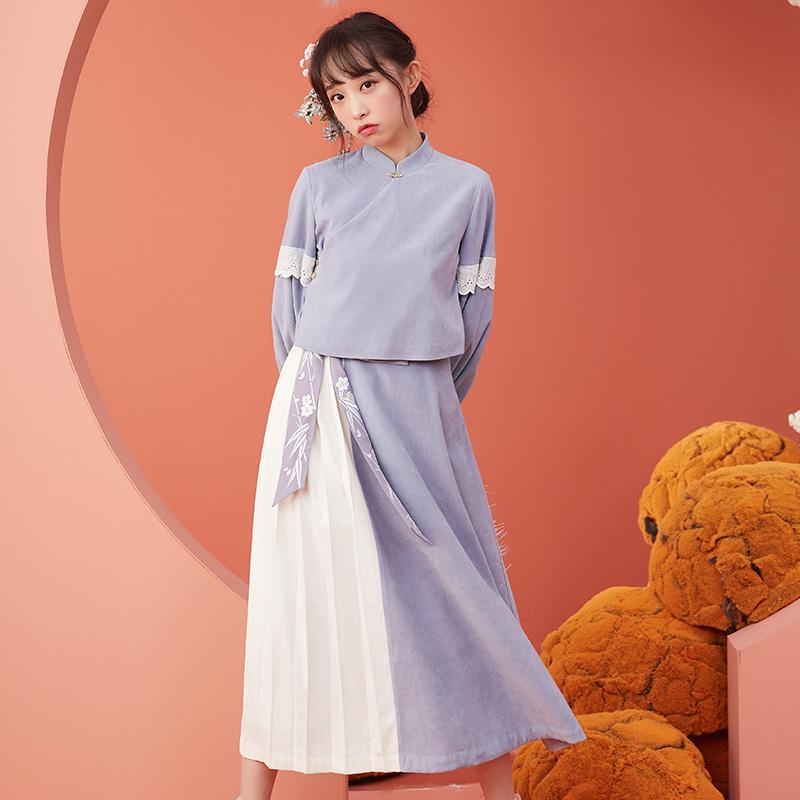 【十三余 小豆蔻儿】[竹烟]汉元素短上衣中长裙
