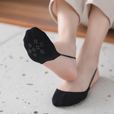 吊带袜无跟半截船袜高跟鞋袜子女夏天隐形超浅口硅胶防滑前脚掌