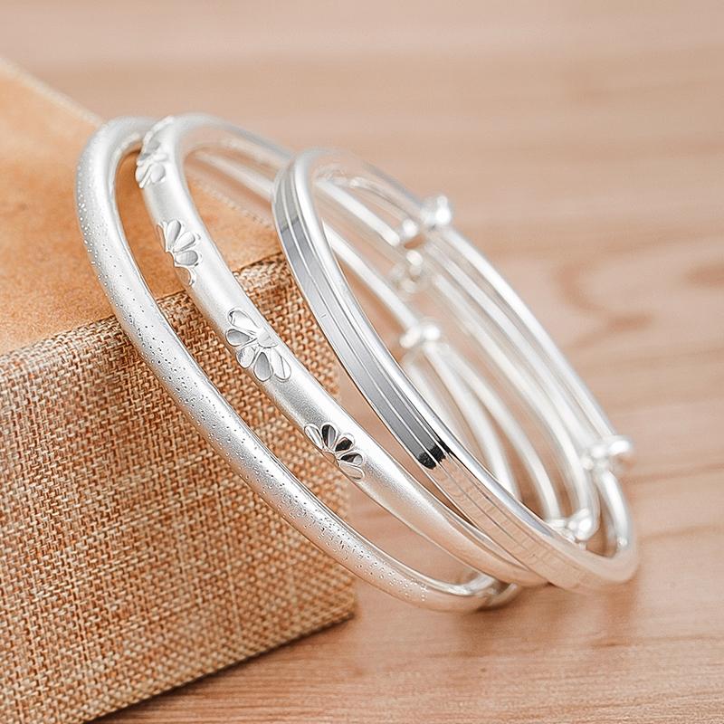 Jiu Le 999 Vòng tay bạc Sterling Nữ rắn Pushlarian Net Red Starry Bracelet Quà tặng ngày Valentine cho bạn gái - Vòng đeo tay Cuff