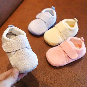 婴儿鞋子0-1岁女宝宝学步鞋软底6-12个月4五5六7七八九男布鞋春秋