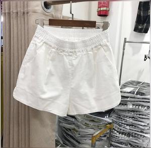 松紧腰百搭白色女夏2021新款潮短裤