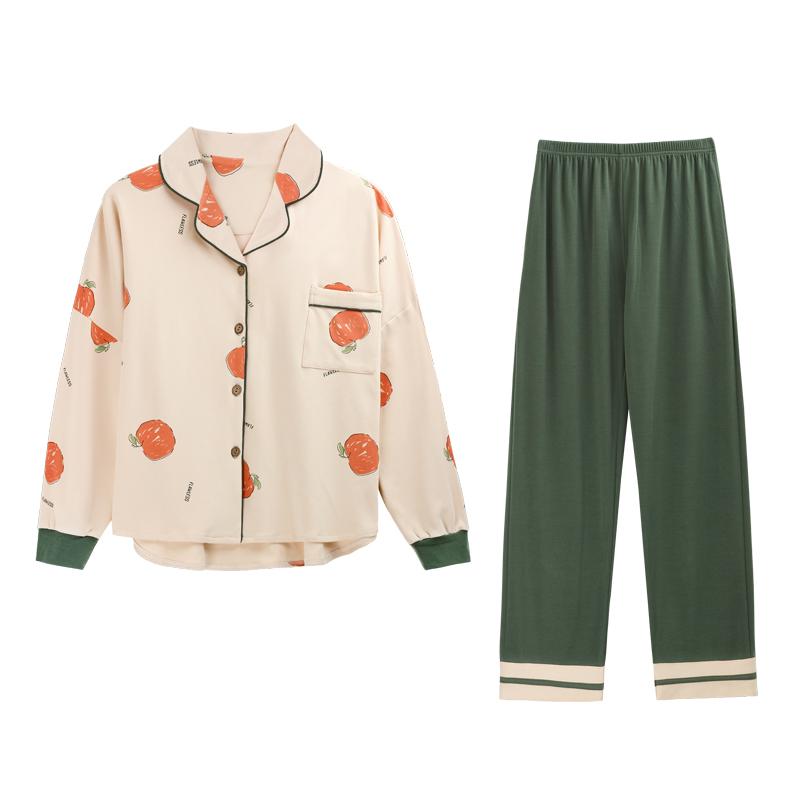 南极人春季睡衣女春秋薄款纯棉长袖大码可外穿可爱套装全棉家居服