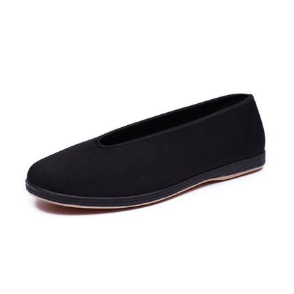 老北京传统圆口中老年人软底功夫鞋