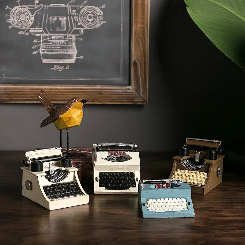 很精致的美式复古打字机创意摆件书架店铺咖啡厅服装店橱窗装饰品券后11.76元