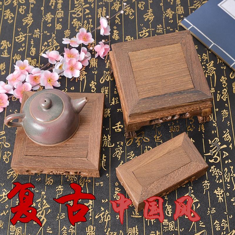 复古实木红木小台子木墩茶具底座饰品食品拍照背景拍摄摄影道具
