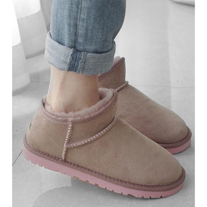 2020新款雪地靴女皮毛一体低帮加厚保暖防滑显瘦百搭款