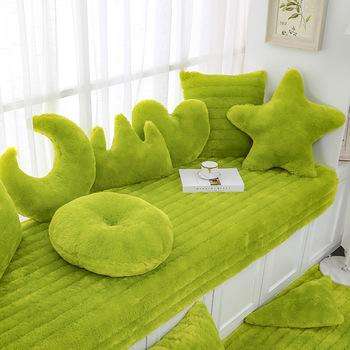 长绒毛台垫飘窗垫子定做网红毛毯