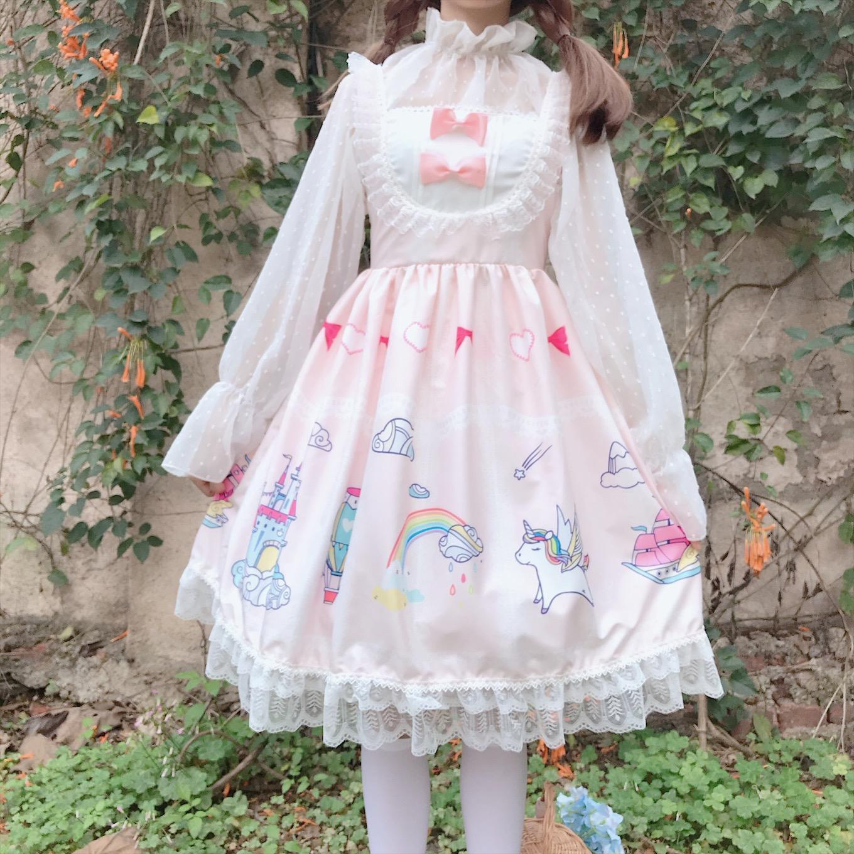 迪乐町夏季小个子连衣裙夏可爱女装学生拼接蕾丝无袖小清新蝴蝶结