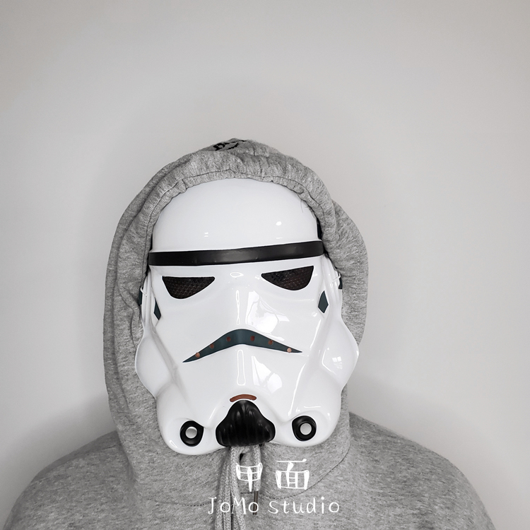 A star wars mask white soldier Cosplay props street dance mens and womens all face role play live