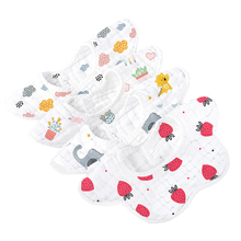 Baby cotton gauze Bib mouth towel baby waterproof vomiting new baby bib 360 degree rotation children autumn and winter
