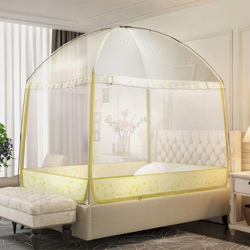 蒙古包支架三门2x2.3米帐加粗蚊帐正方形2.2m防蚊1.8宿舍床免安装