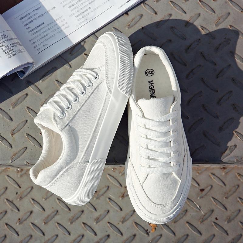 环球小白鞋女2021春季新款百搭韩版鞋子学生原宿ulzzang帆布鞋潮