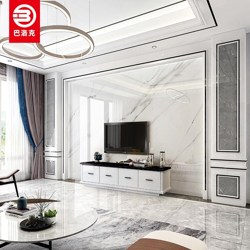 套餐 瓷磚電視背景墻簡約現代歐式客廳輕奢微晶石影視墻裝飾造型
