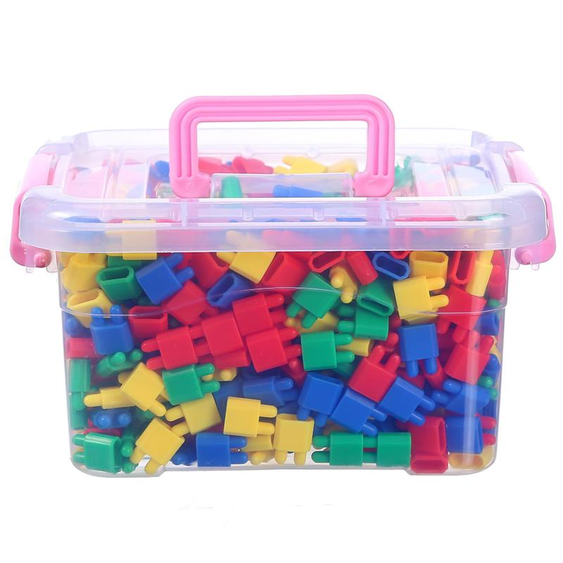 儿童火箭子弹头积木塑料拼插益智玩具幼儿园3-6周岁桌面积木玩具