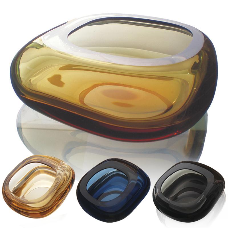 欧式水晶玻璃烟灰缸家用创意领导礼品大鼠标烟缸时尚北欧摆件ins Изображение 1