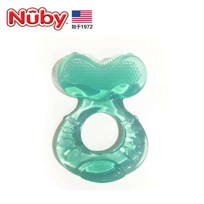 美國nuby 努比 牙膠固齒器磨牙棒寶寶嬰兒咬咬膠玩具 全矽膠牙膠