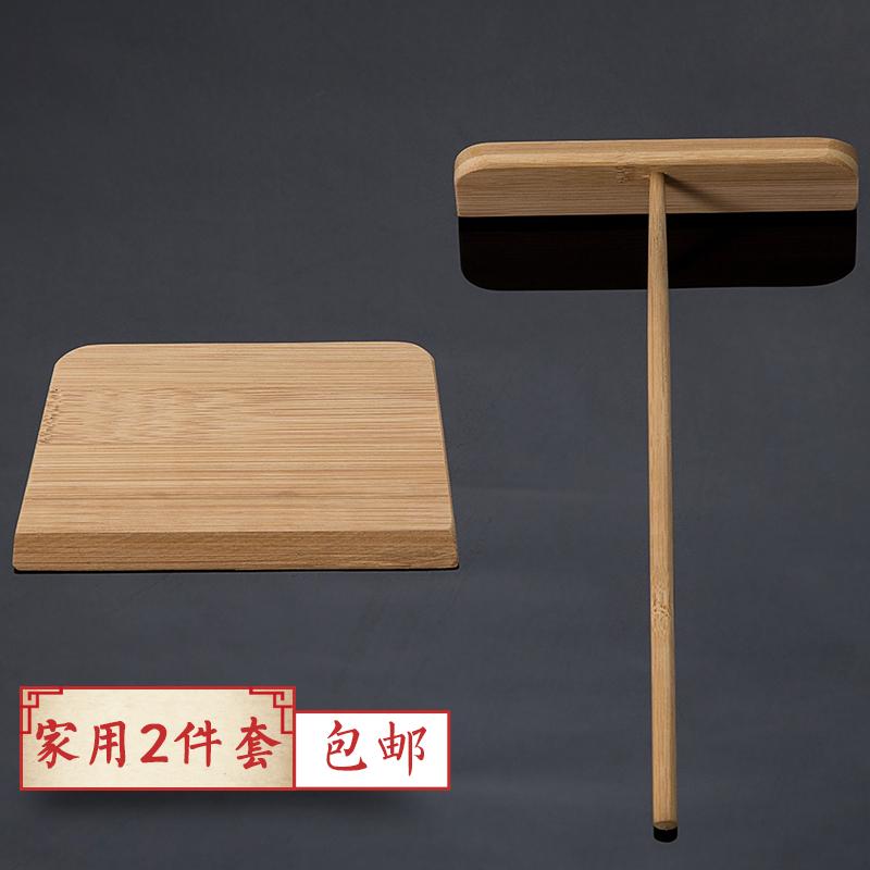 煎饼果子工具鏊子摊煎饼煎饼锅煎铲耙子刮板刷子烹饪勺铲煎饼工具 Изображение 1