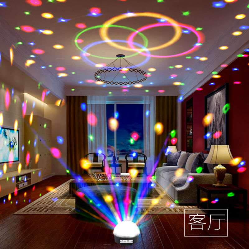 Rotary direct selling USB night Bluetooth flash lamp small color lamp KTV color audio car manufacturers home dance hall