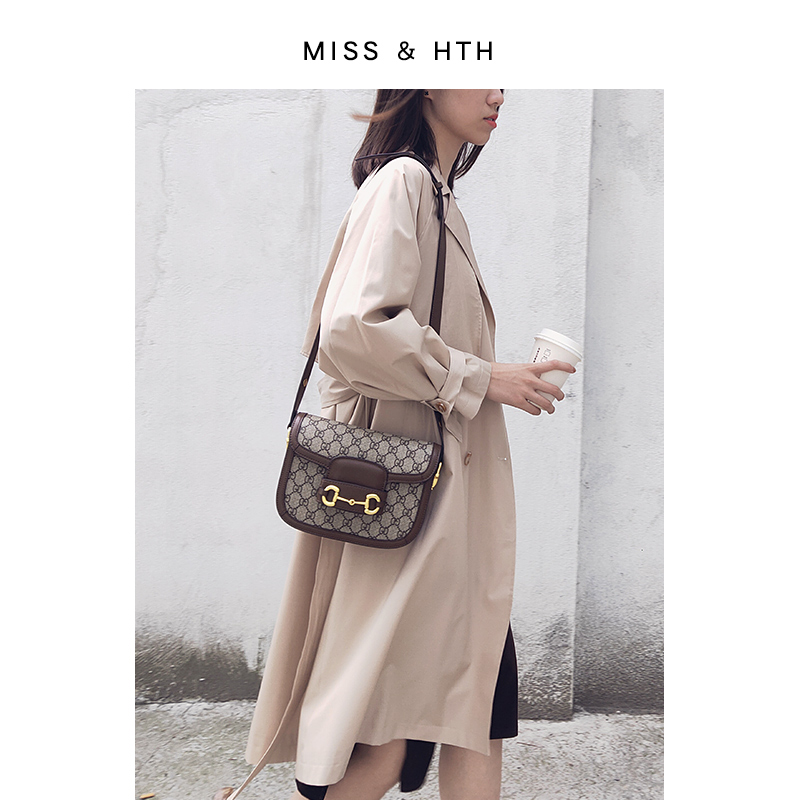 Mishsth real leather bag women 2020 new spring and summer large capacity Xiao Zhan same fashion one shoulder Saddle Bag Fashion