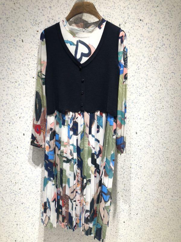 新款VGRASS维格娜丝劲草专柜品质2018夏装连衣裙VSLQJ21520包邮