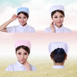 南丁格尔护士帽子护士长帽燕尾帽白色粉色蓝色加厚涤卡护士服包邮