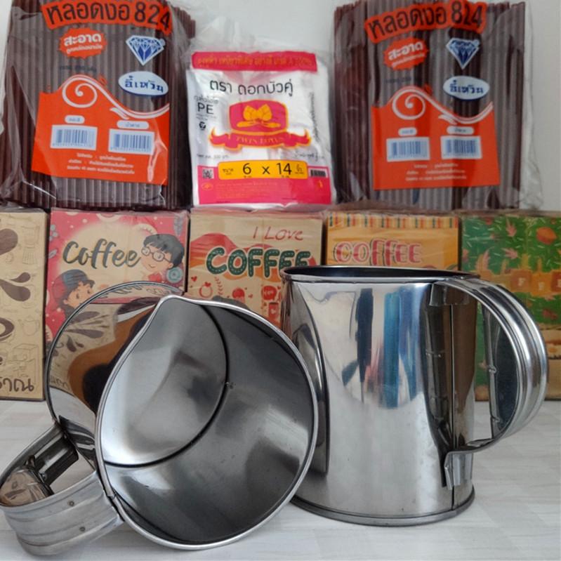 老挝咖啡袋泰国手提塑料袋奶茶纸袋包邮一次性咖啡袋东南亚饮品袋