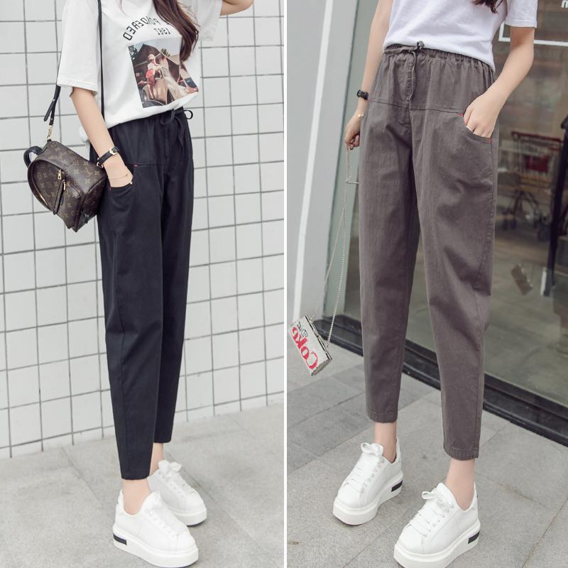 2019新款夏季女裤宽松显瘦休闲裤满35元可用1元优惠券