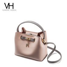 VH women's bag 2020 new fashion children's bag simple portable single shoulder bag deer bucket bag women's messenger bag