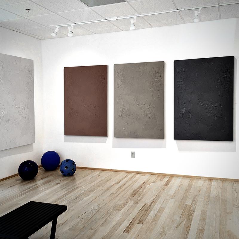 pure純粹客廳meju玄關搭配定制大幅沙發背景墻裝飾畫輕奢手繪油畫