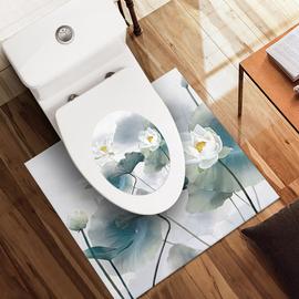 卫生间厕所马桶盖贴纸全贴底座边缘防水贴地帖马桶贴装饰防滑耐磨